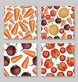 Vegetables pattern set vector image