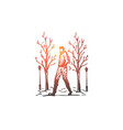 winter park man walking season concept vector image