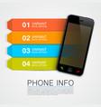 phone info banner vector image