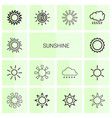 14 sunshine icons vector image vector image