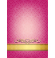 Abstract pink invitation vector image vector image
