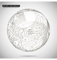 Abstract Sphere Diagram Technology Background vector image vector image