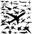 airplane silhouette vector image vector image