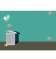 Alley can trash background wall vector image vector image