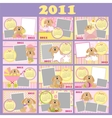 Babys monthly calendar for 2011 vector image vector image