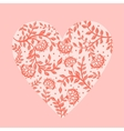 Beautiful greeting floral heart vector image
