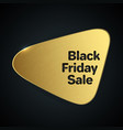 black friday sale abstract template gold logotype vector image