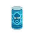 blue aluminum tin can of beer cartoon vector image vector image