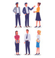 businesswomen and businessmen with different style vector image