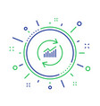 chart line icon update report graph sign vector image vector image