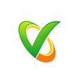check sign technology logo vector image