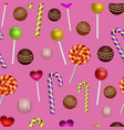 colorful seamless pattern with candy vector image vector image