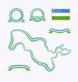 Colors of Uzbekistan vector image vector image