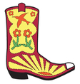 Cowboy boots vector image vector image