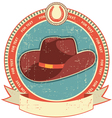 Cowboy hat label vector | Price: 1 Credit (USD $1)