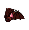 cute horror flying bat animal from deep cave vector image