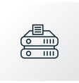 data storage icon line symbol premium quality vector image