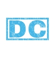 DC Rubber Stamp vector image
