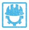 Development Hardhat Icon Rubber Stamp vector image vector image