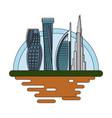 dubai cityscape cartoon vector image vector image