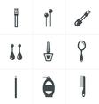 Elegant Fashion Icons Set vector image vector image