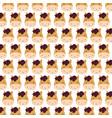 farm horse faces animal decoration textile vector image
