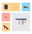 flat icon clothes set of underclothes elegant vector image vector image