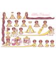 flat little princess set vector image
