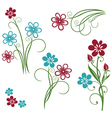 Flowers meadow set vector image vector image
