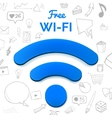 free wi-fi sign isolated abstract vector image vector image