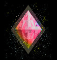 gem or crystal in the space abstraction vector image vector image