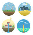 generation energy types power plant icons vector image