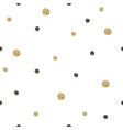 gold and black random dots seamless pattern vector image