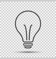 halogen lightbulb icon light bulb sign vector image vector image