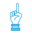 hand number one symbol vector image