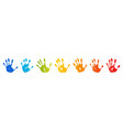 hand rainbow print isolated on white background vector image