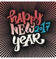 Happy new 2017 year lettering vector image vector image