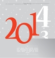 happy new year silver 2014 vector image vector image