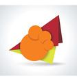 Hot deal color 3d realistic paper sale tags vector image
