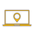 laptop pin map navigation device screen technology vector image vector image