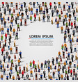 large group of people in chat bubble vector image vector image