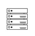 line database technology system information vector image vector image