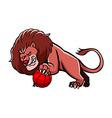 Lion Basketball Mascot vector image vector image