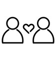love and relationship icon heart symbol between vector image