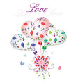 love balloons vector image vector image
