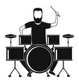 man at drums icon simple style vector image vector image