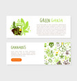 medical cannabis landing page template hemp vector image