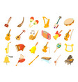 musical instrument icon set cartoon style vector image vector image