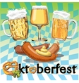 Oktoberfest poster vector image vector image