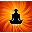 power yoga meditation vector image
